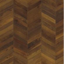 Инженерная доска Kahrs Шеврон Дуб Тёмно-коричневый (Dark brown)
